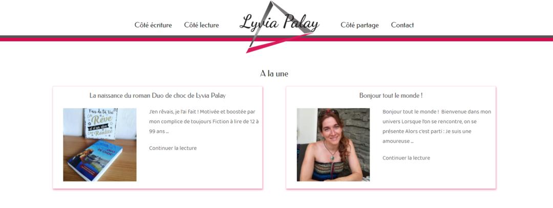 Blog de Lyvia Palay chroniqueuse littétaire et romancière
